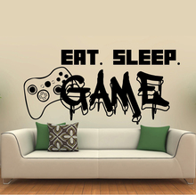 Gamer wall decal Eat Sleep Game Controller video game decals Customized For Kids Bedroom Vinyl Wall Art Decals A1-007