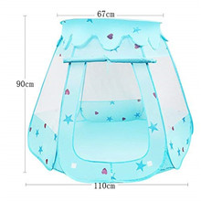 YOOAP BelleStyle Kids Play Tent  Pop Up Princess Children Ball Pit Pool Tent House for Kids Indoor and Outdoor Use (Blue)