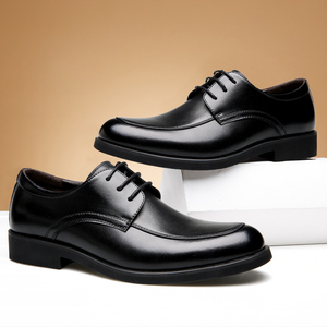Image 5 - حذاء رجالي من الجلد الطبيعي من ROXDIA حذاء رجالي للعمل الرسمي حذاء أكسفورد للرجال طراز RXM063 بمقاسات 39 44