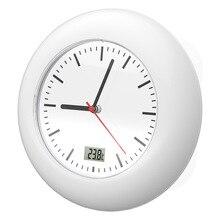 Meijswxj Saat Bathroom Samll Wall Clock Reloj Clock Relogio De Parede Duvar  Saati Relogio Bathroom Thermometer