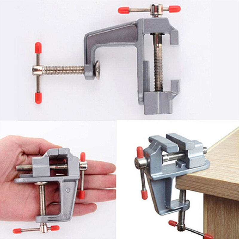 New arrival  3.5 Inch Aluminum Small Jewelers Hobby Clamp On Table Bench Vise Mini Tool Vice