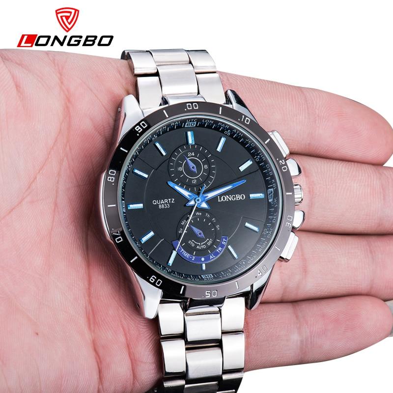 Reloj Acero Agua Inoxidable Para De Longbo Completo Resistente Al rCQxhdts