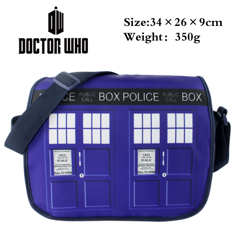 Doctor Who Inclined shoulder bag movies The police office Bag, Color map Inclined should ...