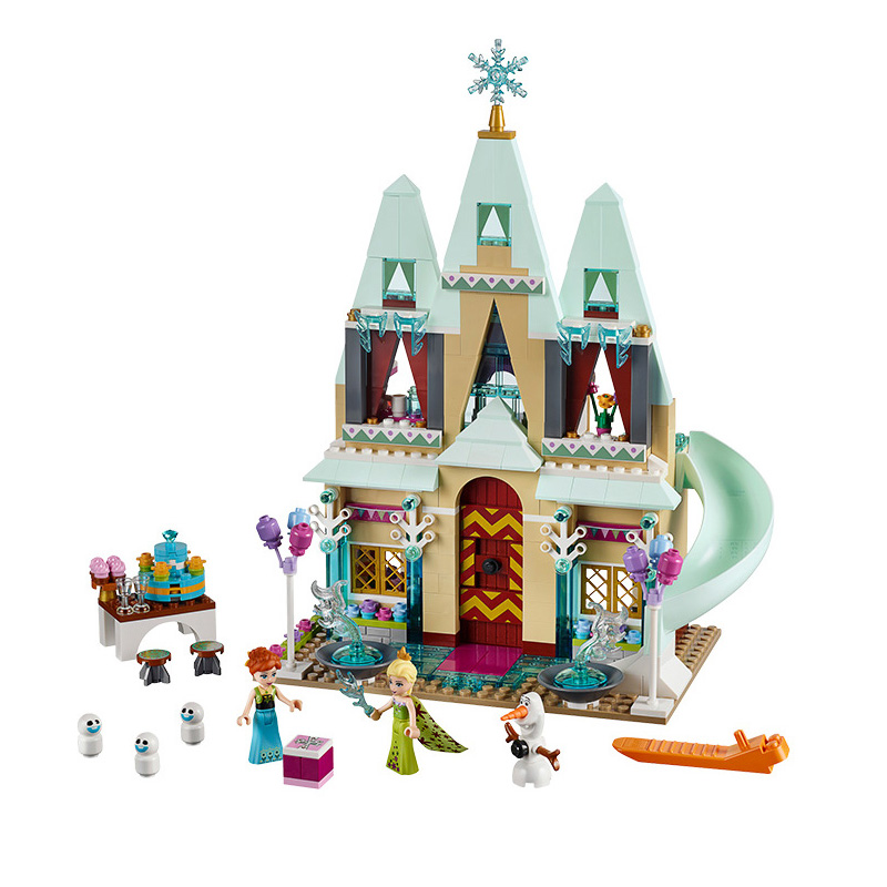 Educational-Building-Blocks-Toys-For-Children-Gifts-Castle-Girls-Friends-Princess-Prince-Mermaid-Beauty-Beast-Snow-Elsa-Anna-4