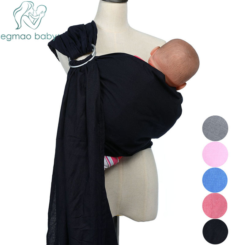 Baby Ring Sling Carrier Lightweight Breathable Line Fabric Baby Wrap For Infant Newborn Kids & Toddlers Soft Sling For Summer