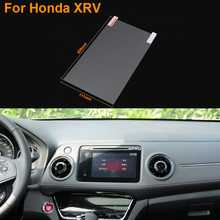 Car Styling 9 Inch GPS Navigation Screen Steel Protective Film For Honda XRV Control of LCD Screen Car Sticker