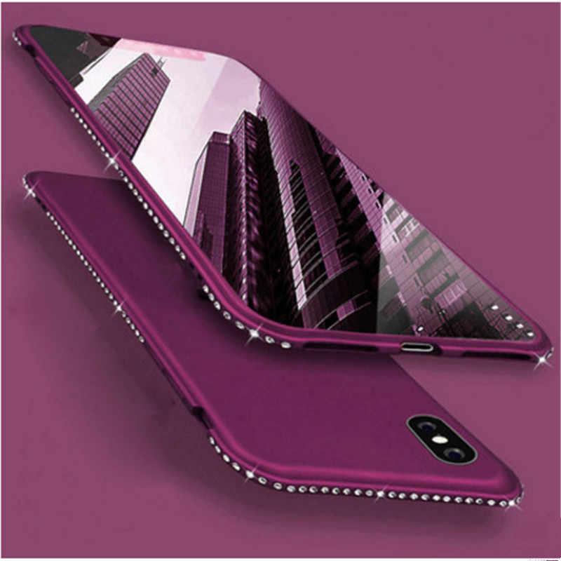 Custodia in Silicone per Il Iphone 6 6 S 7 8 Più di X Xs Max Xr Lusso Del Diamante di Scintillio Della Copertura di Samsung Galaxy s7 Bordo S8 S9 S10 Più Nota 8 9