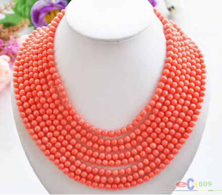 LL Wholesale Real Real Row MM Round Pink Coral - How to create a commercial invoice online bead stores