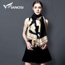 [VIANOSI] Fashion bandana Long Shawls Gold Printing Silk Sca