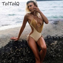TolTolQ Strap Backless Women Rompers 2018 One Piece Jumpsuit Push Up Beach WearHigh