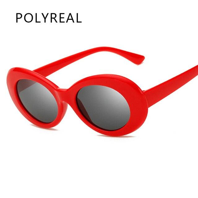 1b97330f26 POLYREAL Fashion Eyewear Kurt Cobain Glasses Retro Oval Sunglasses Women Brand  Designer Men Sun Glasses For