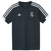 ADIDAS 2A T REAL MADRID TRAINING BOYS black polyster Jersey Real Madrid football shirt, Jersey Adidas