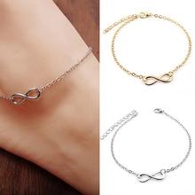 Women Fashion 8-Shape Decor Bracelet Barefoot Anklet Chain Foot Jewelry Gift