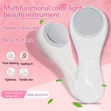 Face Washing Tool Whitening Beauty Instrument Facial Body Cleaner Massager Lift Skin Tightening Deep Clean With Color LED