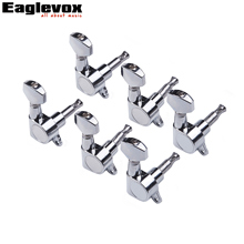 6 In Line Guitar Machine Heads Knob 6 pcs Right Guitar Tuning Keys Pegs For Electric Guitar Closed Knob
