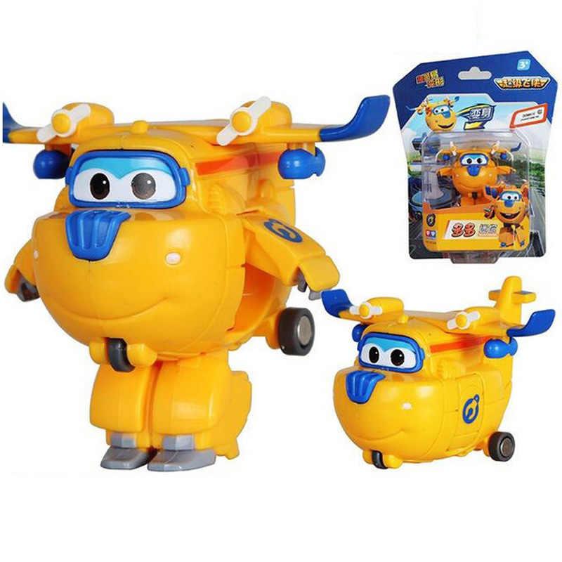 Figuras de acción de superalas, Robot de transformación, Jet Animation, regalo para niños