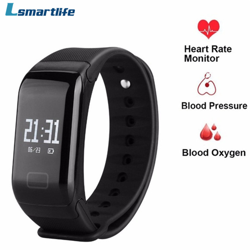 Lsmartlife F1 Smart Bracelet Podometer Heart Rate Monitor Blood Pressure Measurement