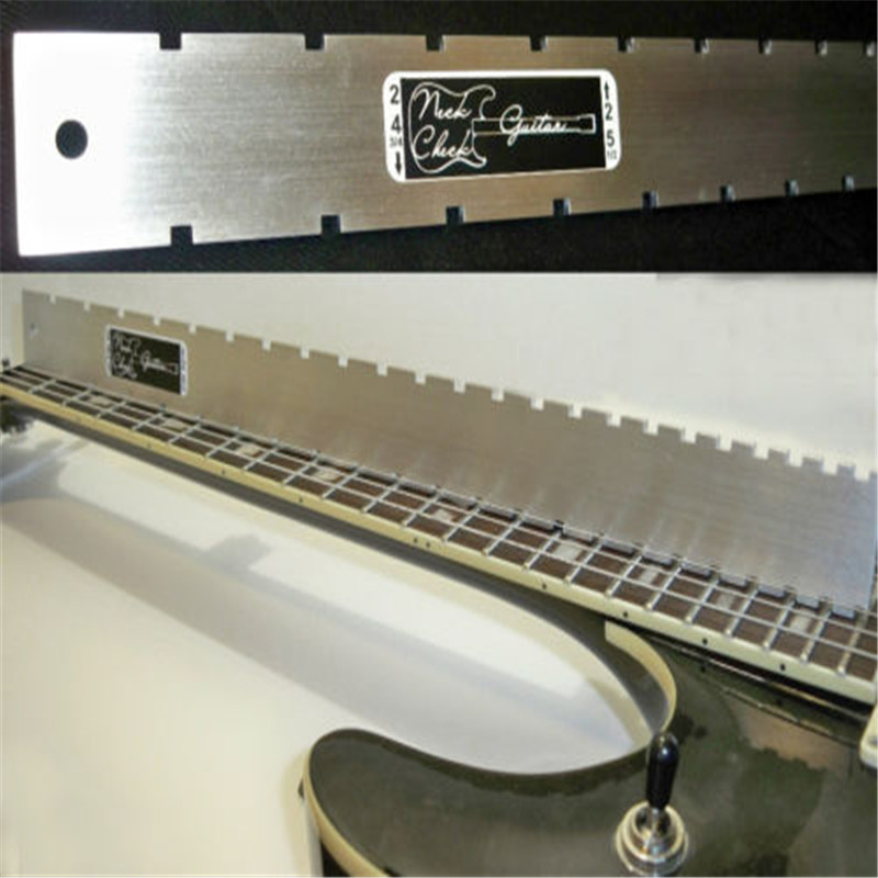 Zebra Electric  Guitar Steel Neck Straight Edge (Notched) Luthiers Tool For Fretboard Stringed Instruments Parts Accessories two way regulating lever acoustic classical electric guitar neck truss rod adjustment core guitar parts