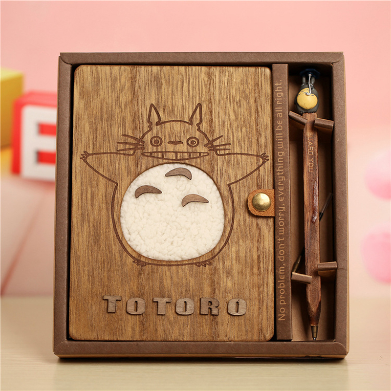 Novelty Cartoon Totoro Planner Notebook Cute Wooden Chinchilla Diary Note Book Gifts School Office Stationery Supplies rights of the game notebook gift diary note book agenda planner material escolar caderno office stationery supplies gt105