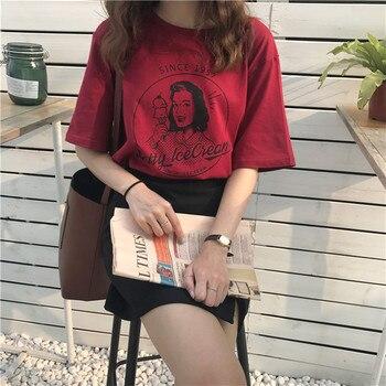 Vintage Character Printed Loose Short Sleeve T-shirts