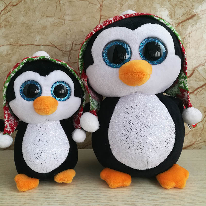 39c4aaa3f36 Ty Beanie Boos Waddles Penelope Pongo Emperor Penguin Plush Toy Large  15cm 25cm Cute Stuffed Animals Big Eyes Kids Toys Gifts-in Stuffed   Plush  Animals ...