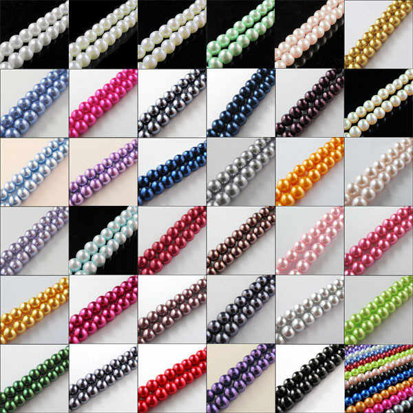 "30"" One Strand Approx 200pcs Per Lot 4MM Round Ball Loose Glass Pearl Spacer Beads For Jewelry Making Free Shipping No.GPB4"