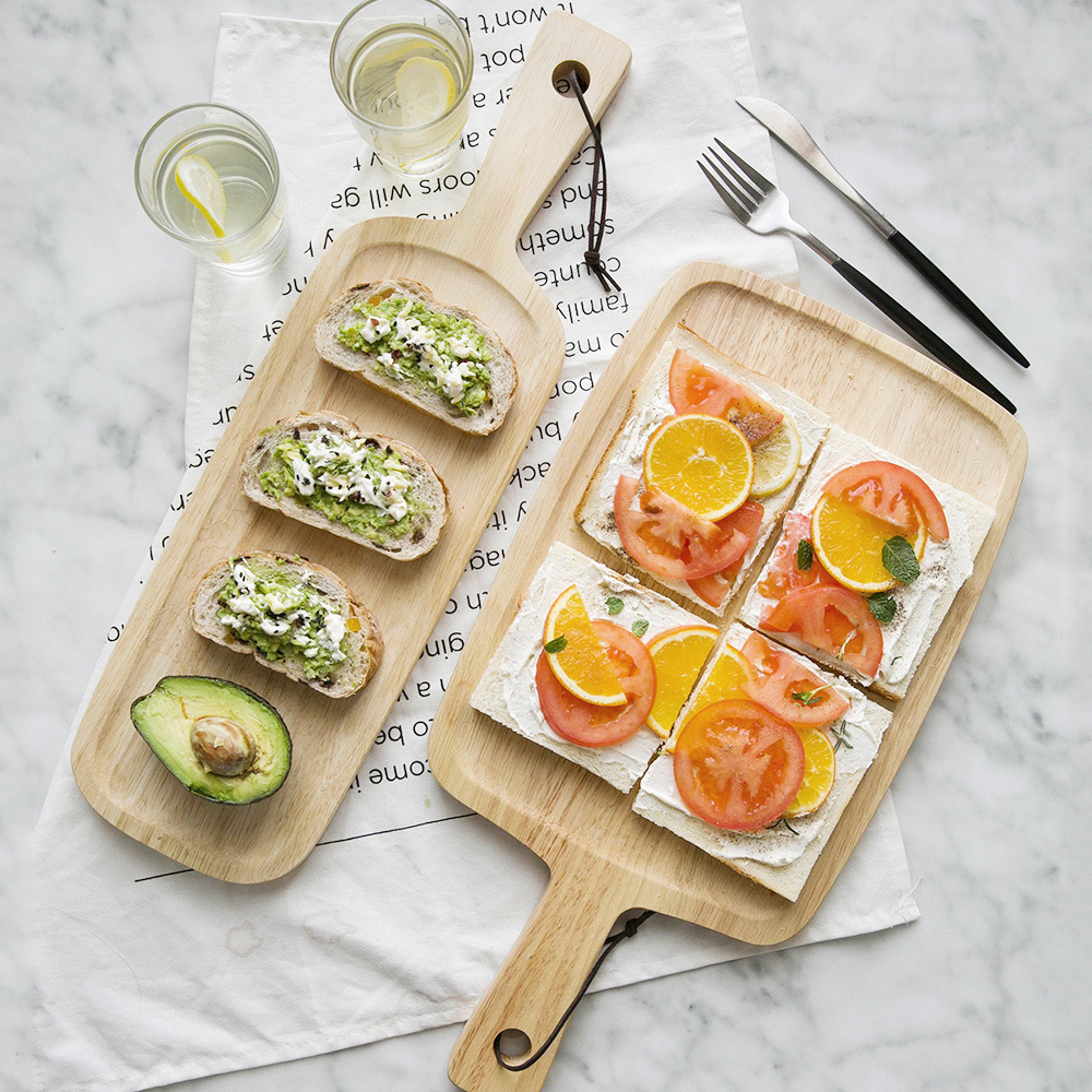 Kitchen Bread Cutting Board Chopping Block Rectangular Block Solid Fruit Plate Cake Dessert Bread Tray Pallet Baking Utensils