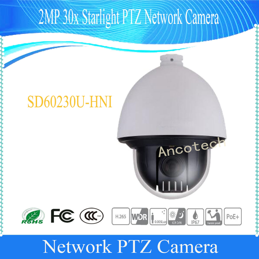 DAHUA CCTV IP Camera 2MP 30x Starlight PTZ Network Camera IP67 IK10 POE+ Without Logo SD60230U-HNI dahua outdoor camera cctv 2mp 30x