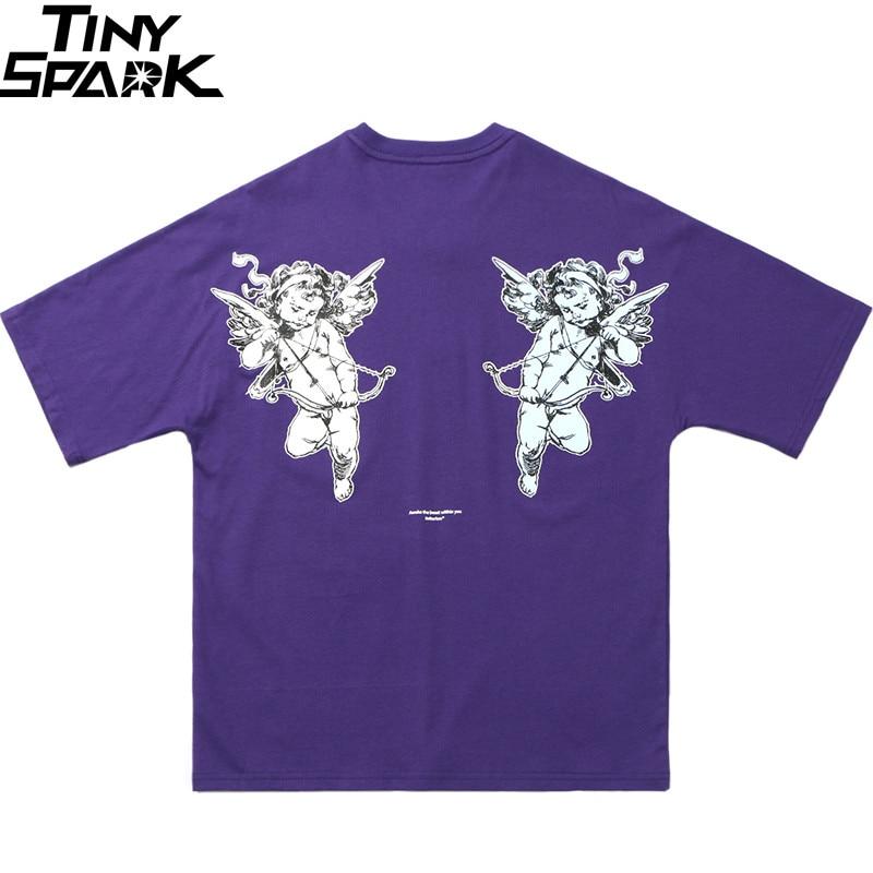 Hip Hop T Shirt Cupid Goddess Of Love 2019 Mens Streetwear Tshirt Harajuku Summer T-Shirts Cotton  Short Sleeve Tops Tees Loose