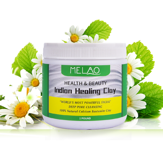 Face Mask Powder Natural Indian Healing Clay White Deep Skin Pore Cleansing Moisturizing Replenishment Oil Control Shrink Pores 4