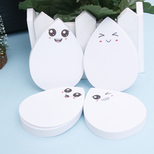 Waterdrop Shape Memo Pad Sticky Notes Notebook Stationery School Supplies Material Escolar Kawaii wholesale