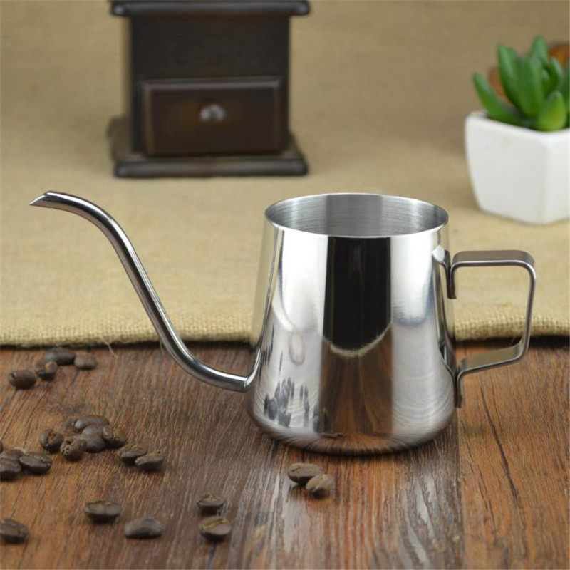 Realand Top Quality 18/8 Stainless Steel Gooseneck Pour Over Coffee Maker Hanging Ear Drip Coffee Long Spout Pot Tea Kettle