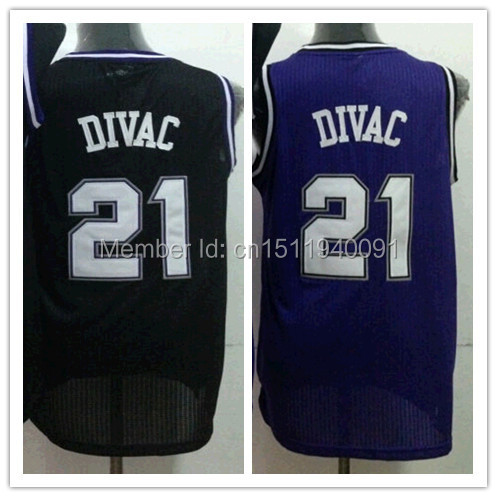 97f9d2357 Sports Sacramento 21 Vlade Divac Jersey Purple White Black Popular Vlade  Divac Basketball Jersey Hot Sale Drop Shipping