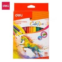 Deli EC00330 lápices de colores 36C lápices de colores para material de oficina de escuela de arte