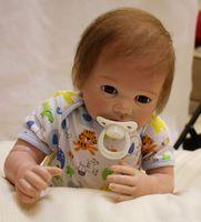 Sudoll About 20 Reborn Soft Silicone Vinyl Doll Handmade Lifelike Newborn BB Big Eyes Doll