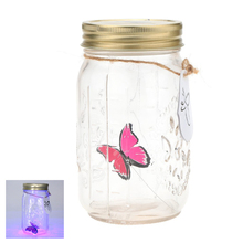 Romantic Glass LED Lamp Butterfly Jar light Valentine Gift