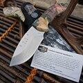 Exploradores Al Aire Libre Herramientas 440C Cuchillo de Caza Camo Cómodo Mango De Goma Funda De Nylon Supervivencia Cuchillos de Hoja Fija Multiherramienta