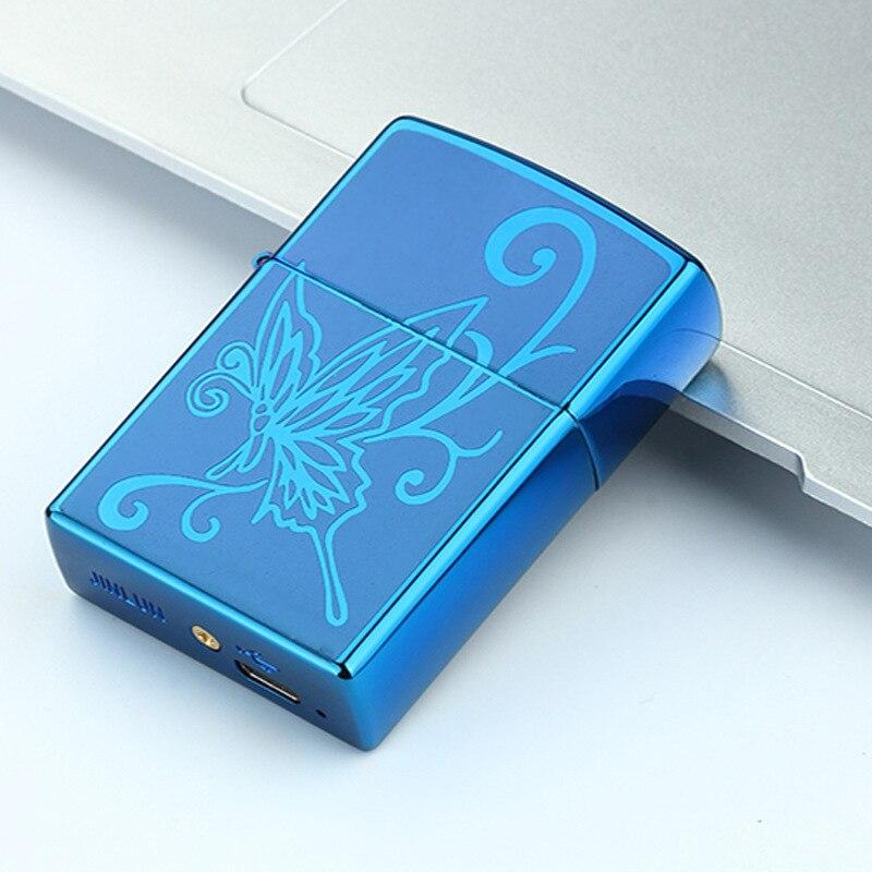 2018 encendedor de carga creativo protección ambiental USB cigarrillo electrónico encendedores Plasma Eletronic Pulse Cjinese Dragon