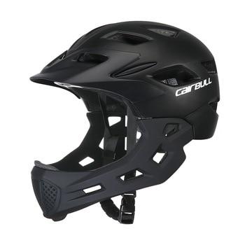 Junior Youth Sport helmet Children Safety Helmet With Detachable Chin Kids Cycling Skating Roller Helmets