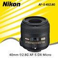 Nikon 40 2.8g dx micro nikkor 40mm f/2.8g af-s lente para D3400 D5500 D7200 D7100 D5300 D5200 D90 D3200 D3300 D500 D300