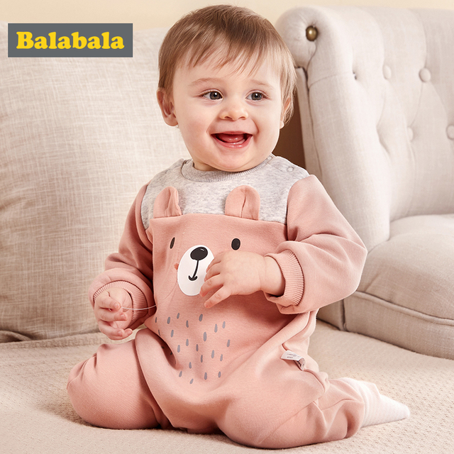 Balabala Infant Baby Boy Girls rompers Clothes 100% cotton long Sleeve Baby Rompers Jumpsuit baby clothes Animal Autumn Winter