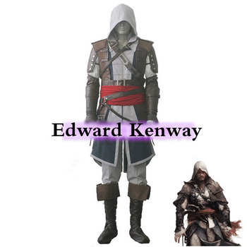 Customize  Cosplay IV 4 Black Flag Edward Kenway Cosplay Costume Whole Set for Men Women