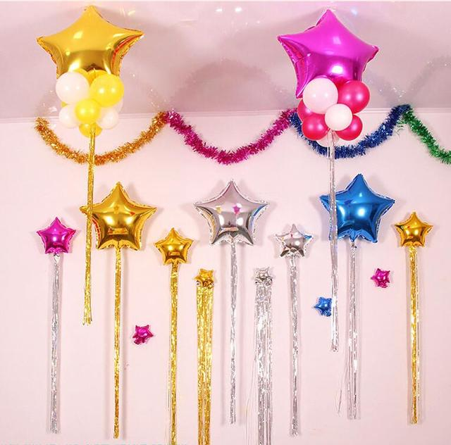 Hot Sale 5pcslot 1M Balloon Ribbon For Wedding Party Birthday