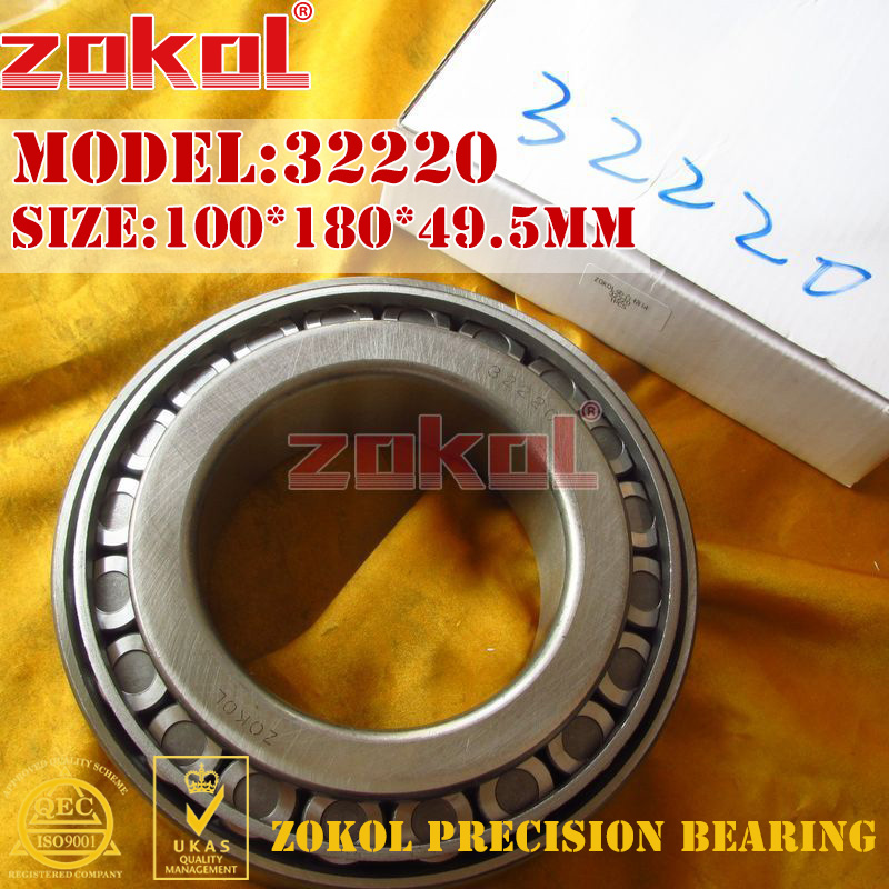 ZOKOL bearing 32220 7520E Tapered Roller Bearing 100*180*49.5mmZOKOL bearing 32220 7520E Tapered Roller Bearing 100*180*49.5mm