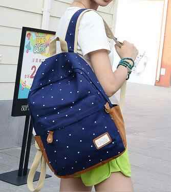 New fashion canvas  men and women backpack schoolbag bag