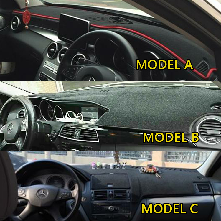 Car Styling Covers Dashmat Dash Mat Dashboard Cover For  Mercedes-Benz C-Class C180 C200 C230 C260L C300 W204 W205 2007-2018