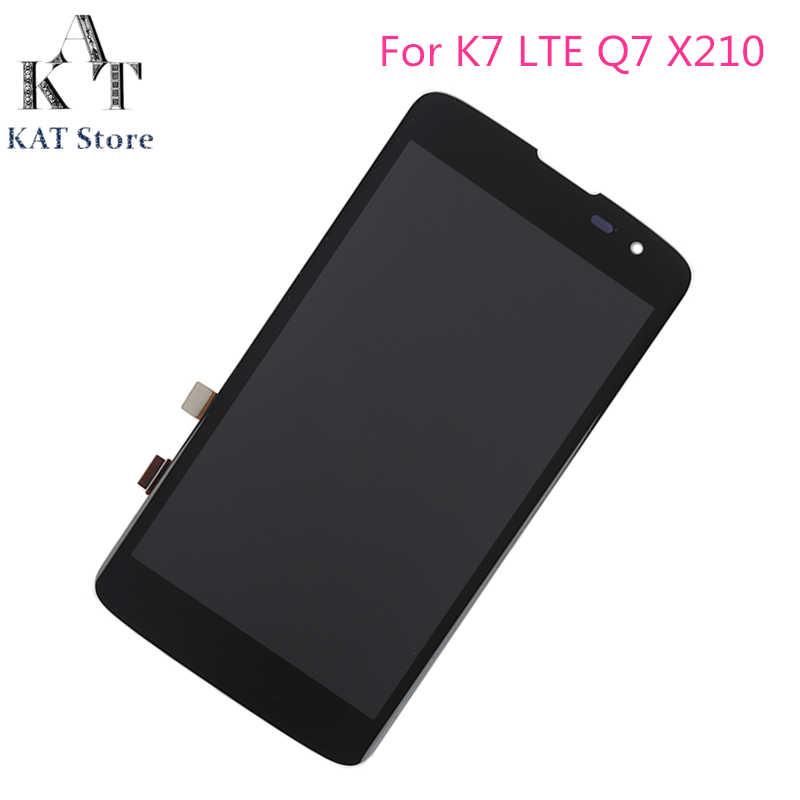 """5,0 """"оригинальный ЖК-дисплей Дисплей Сенсорный экран для LG K7 K330 MS330 K7 LTE Q7 X210 X210DS ЖК-дисплей, дигитайзер, для сборки, с корпусом, подарок инструменты"""