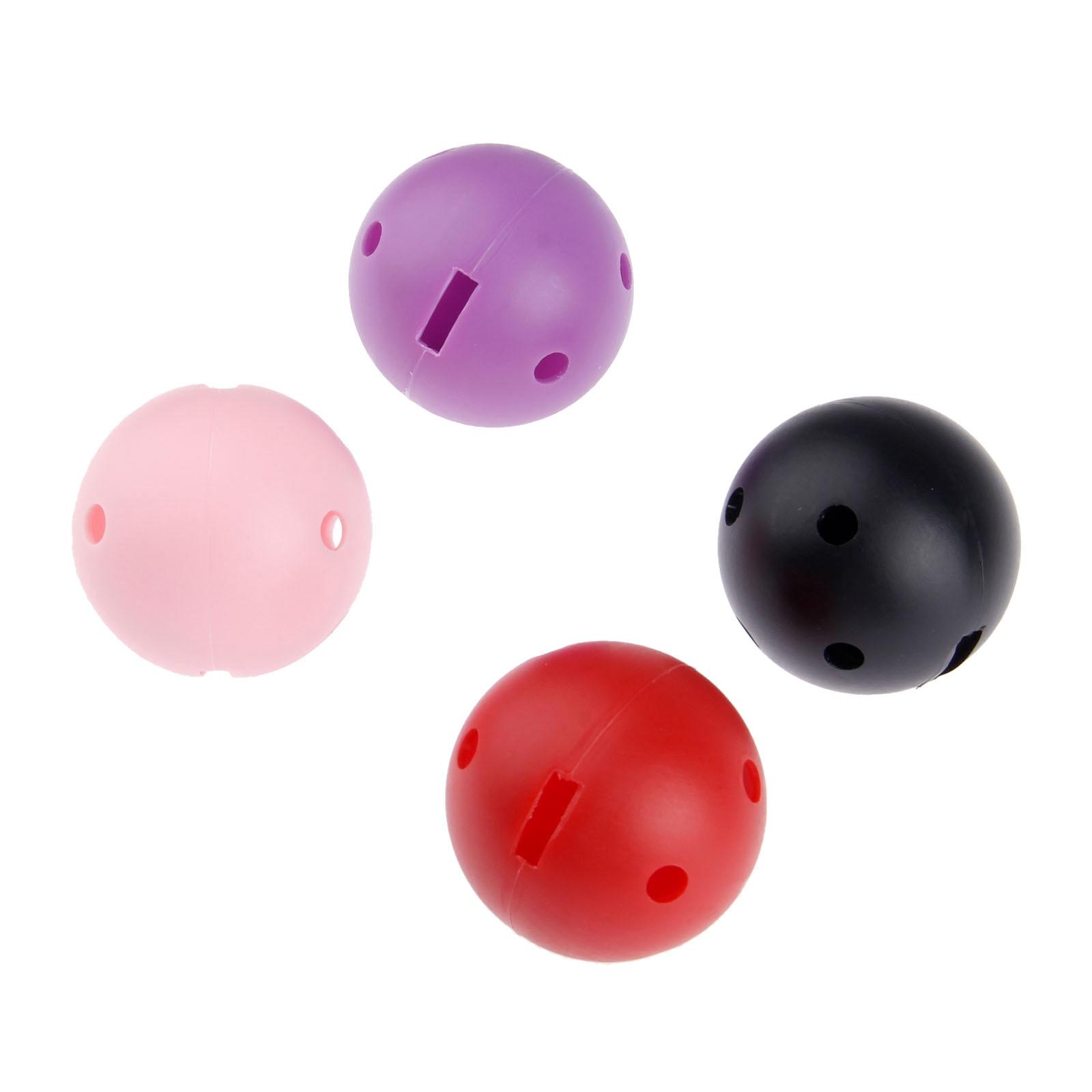 SURIEEN 10Pcs 44mm Plastic Golf Balls Blow Moulding Airflow Hollow W/ Square Holes Golf Balls Indoor Outdoor Golf Practice Balls