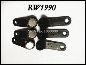 100 sztuk/partia RW1990 wielokrotnego zapisu RFID Tag iButton dotykowy klucz pamięci kompatybilny DS1990