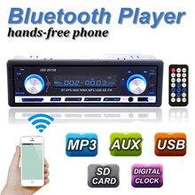A Estrenar 12 V BLUETOOTH Stereo Radio 1-Din MP3 USB/SD AUX Reproductor de Audio Del Coche en El Tablero 60Wx4 Celular cargador de teléfono